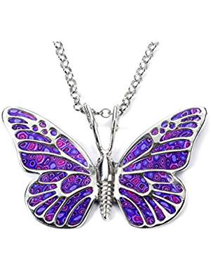 hand made silver jewelry butterfly necklace
