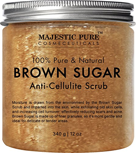 Body scrub fro cellulite with brown sugar