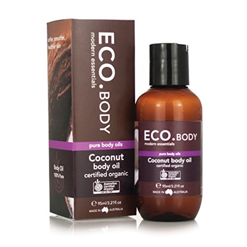 ECO. Body Coconut Body Oil Certified Organic, 95ml (3.2 oz) from Cellulite House