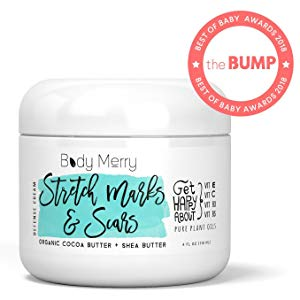 Stretch Marks & Scars Defense Cream Daily Moisturizer w Organic Cocoa Butter + Shea + Plant Oils + Vitamins to Prevent, Reduce and Fade Away Old or New Scars cream