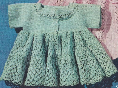 Vintage Crochet PATTERN to make – Thread Crochet Baby Sacque Sweater ...