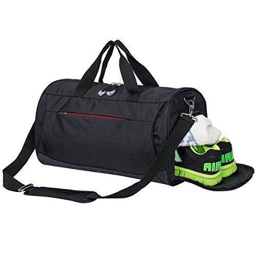 sports bag with shoes compartment travel duffel bag