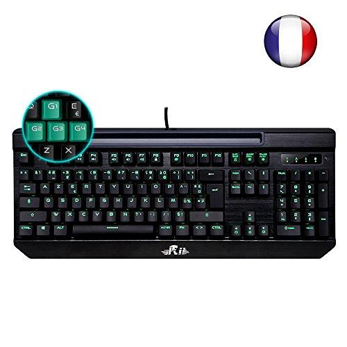 nouveaut rii k61c clavier de jeu m canique pour pro gaming r tro clairage de macro. Black Bedroom Furniture Sets. Home Design Ideas